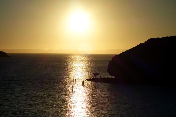 Plage de Balandra sunset