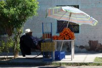 Vendeur d'orange à La Paz
