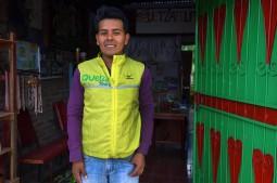 Esteli, Nicaragua : Uriel, rencontré au hasard d'une rue et devenu un ami. Il a ouvert son agence de tourisme depuis 6 mois.