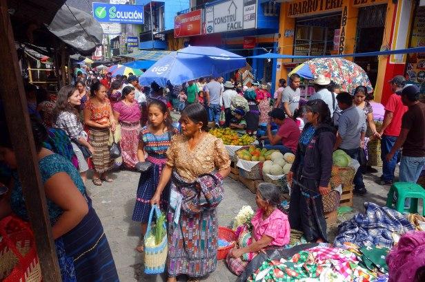 Au marché.